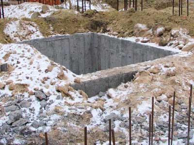 Этап строительства фундамента